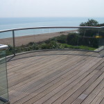 Bexhill curved glass balustrade