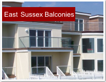 East Sussex glass balconies