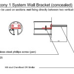 balcony 1 system wall bracket (concealed)