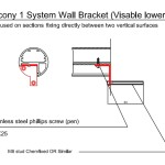 balcony 1 system wall bracket (Visable lower fixing)