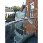 curved balcony balustrade in glass skegness