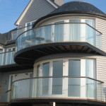 glass curved balcony near kent