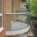 glass on a curved balcony wigan