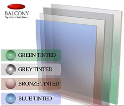 tinted glass for balustrades