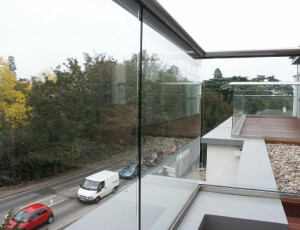 clear glass balcony Hereford