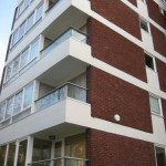 corner glass balconies in north west london
