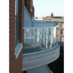 curved glass balustrade london