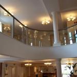 curved internal glass balustrade