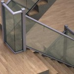 stairs glass balustrade