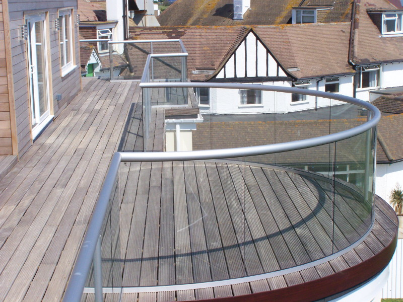 Projects glass balustrades for Balcony company