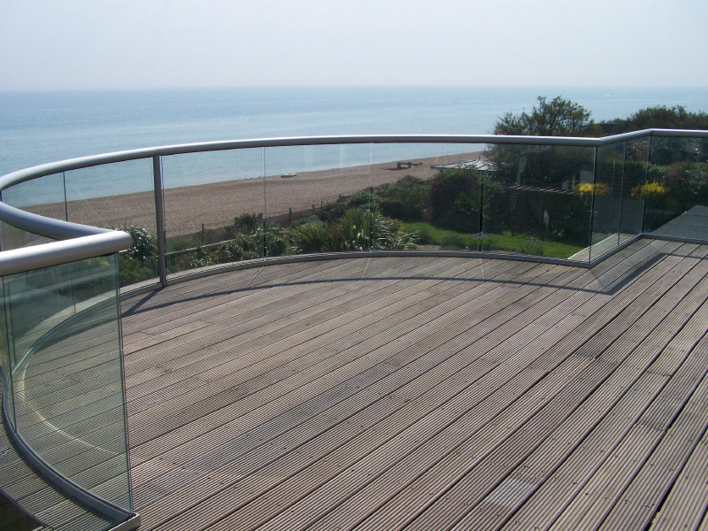 Briliant glass balustrades glass balustrades for Balcony barrier