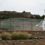 curved glass balcony Jersey, Channel Islands
