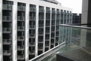 glass balustrades appartment building