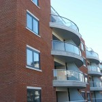 curved glass on concrete balcony horncastle