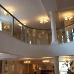 curved internal glass balustrade