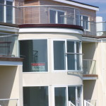 curved doors with glass julit balcony in brighton